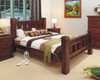 KING RUSTIC BED ONLY