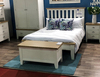 DOUBLE SPENCER (TT-46-W) BED FRAME ONLY - BRIGHT WHITE  / LIGHT OAK (2 TONE)