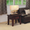 DINH TASSIE OAK LAMP TABLE - 600(W) - CHOICE OF COLOURS