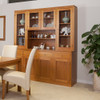 JOE TASSIE OAK (GROOVE UNDER TOP) BUFFET AND HUTCH WITH 4 DRAWERS/8 DOORS - 1870(W) - CHOICE OF COLOURS