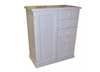 TIMBER NURSERY ROBE WITH 1 DOOR / 6 DRAWERS -1200(H) X 900(W) -  WHITE