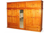TIMBER MULTIROBE WITH FEDERATION TOP STORAGE -  2250(H) X  2000(W) - ASSORTED COLOURS AVAILABLE