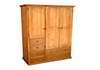 MUDGEE UTILITY WARDROBE WITH 3 DOORS & 6 DRAWERS -  1800(H) X 1300(W)  - ASSORTED COLOURS AVAILABLE