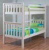 SINGLE SUSSEX/AWESOME BUNK BED WITH MATCHING TEENAGE UNDERBED STORAGE TRUNDLE - ARCTIC WHITE