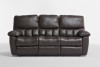 SKYLINE 3 SEATER RECLINER 3RR - 100% LEATHER - CHOCOLATE OR BLACK