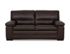 FONTANA 3 SEATER + 2 SEATER FULL LEATHER LOUNGE (ITALIAN M1/S) -  (3 SEATER NOT PICTURED)