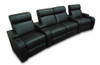 VEGAS 4 SEAT HOME THEATRE SUITE - FULL LEATHER - DARK CHOCOLATE OR BLACK (PICTURED)