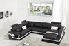 ZVEST-I (G1074) LEATHER/ETTE COMBINATION CORNER LOUNGE - ASSORTED COLOURS