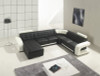 EMMERICH (G1013) LEATHER/ETTE COMBINATION CORNER CHAISE LOUNGE - ASSORTED COLOURS