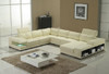 VERIANA (G1076) 3 SEATER + 2 SEATER LEATHER/ETTE COMBINATION CORNER CHAISE LOUNGE SUITE - ASSORTED COLOURS