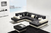 GIOVANNA (G1086) 3 SEATER + 2 SEATER LEATHER/ETTE COMBINATION CHAISE SUITE - ASSORTED COLOURS