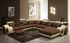SIRENO-IV (F2002D) 3 SEATER + 2 SEATER  LEATHER/ETTE COMBINATION CORNER CHAISE SUITE- ASSORTED COLOURS