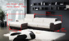 ELISA (F2018) 3 SEATER LEATHER/ETTE COMBINATION CHAISE LOUNGE - ASSORTED COLOURS