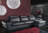 LIONNE (F2033) 3 SEATER LEATHER/ETTE COMBINATION CHAISE LOUNGE - ASSORTED COLOURS