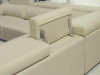 CADENZA-II (F2045B) 2 SEATER + 2 SEATER LEATHER/ETTE COMBINATION CORNER LOUNGE SUITE - ASSORTED COLOURS