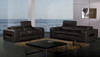 ACANTHA (F6012) 1 SEATER + 2 SEATER + 3 SEATER LEATHER/ETTE COMBINATION LOUNGE SUITE - ASSORTED COLOURS