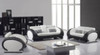 ELAINE (F6024) 1 SEATER + 2 SEATER + 3 SEATER LEATHER/ETTE COMBINATION LOUNGE SUITE - ASSORTED COLOURS