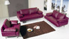 RHEA (F6037) 1 SEATER + 2 SEATER + 3 SEATER LEATHER/ETTE COMBINATION LOUNGE SUITE - ASSORTED COLOURS