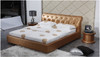 LANSLEBOURG KING 3 PIECE BEDSIDE BEDROOM SUITE  WITH (#119 BEDSIDES) - LEATHERETTE - ASSORTED COLOURS (WITH OPTIONAL UPGRADE FOR GAS LIFT UNDERBED STORAGE)