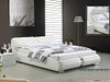 QUEEN CHARLOTTE LEATHERETTE BED (2222) - ASSORTED COLOURS (PICTURED IN WHITE)