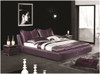 IVOR QUEEN 3 PIECE BEDSIDE BEDROOM SUITE - LEATHERETTE - ASSORTED COLOURS (WITH OPTIONAL UPGRADE FOR GAS LIFT UNDERBED STORAGE)