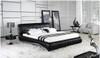 VANDER BERG KING 3 PIECE BEDSIDE BEDROOM SUITE - LEATHERETTE - ASSORTED COLOURS