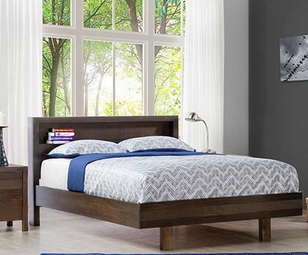 TREND KING BED - CHARCOAL