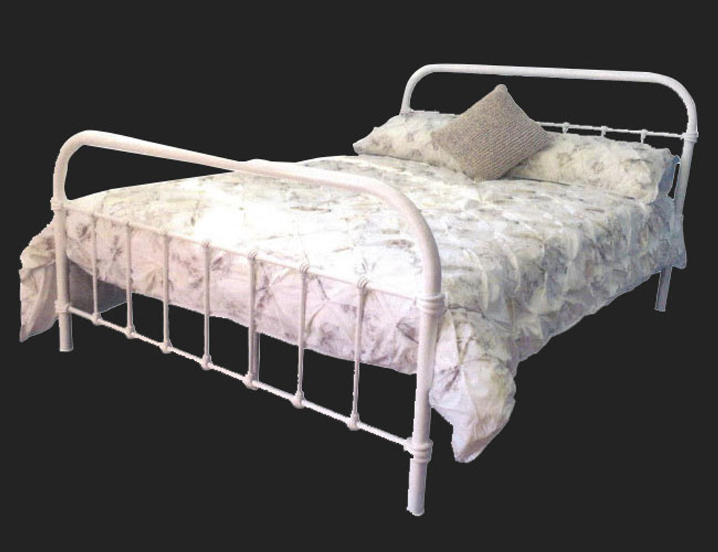 QUEEN  LILLY  BED - WHITE