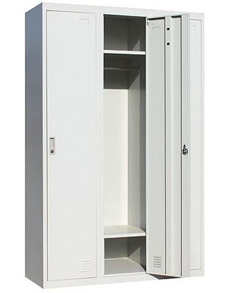 SANTEX (LLIE05) 3 x DOOR SIDE BY SIDE  OFFICE/GYM/ SHED/STORAGE /LOCKER - 1140(W) - GREY