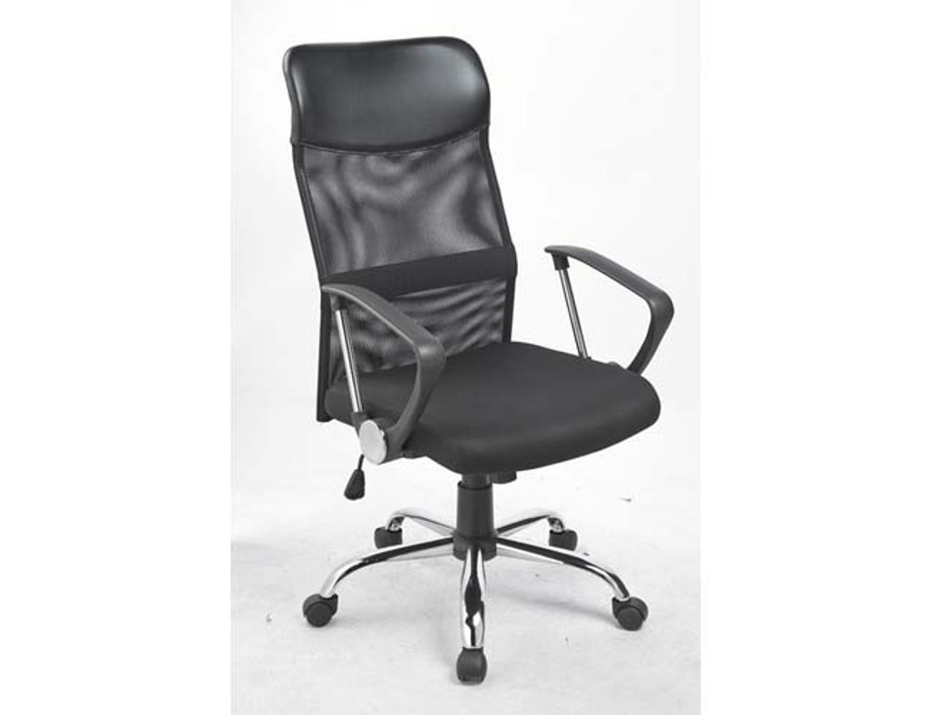 ERGONOMIC (LDF-8101) LEATHERETTE OFFICE CHAIR - BLACK