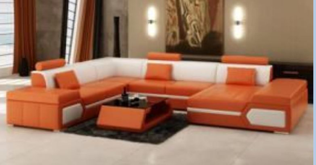 LUKASILA BONDED LEATHER CHAISE LOUNGE SUITE ( MODEL-G1116) - CHOICE OF LEATHER AND ASSORTED COLOURS AVAILABLE