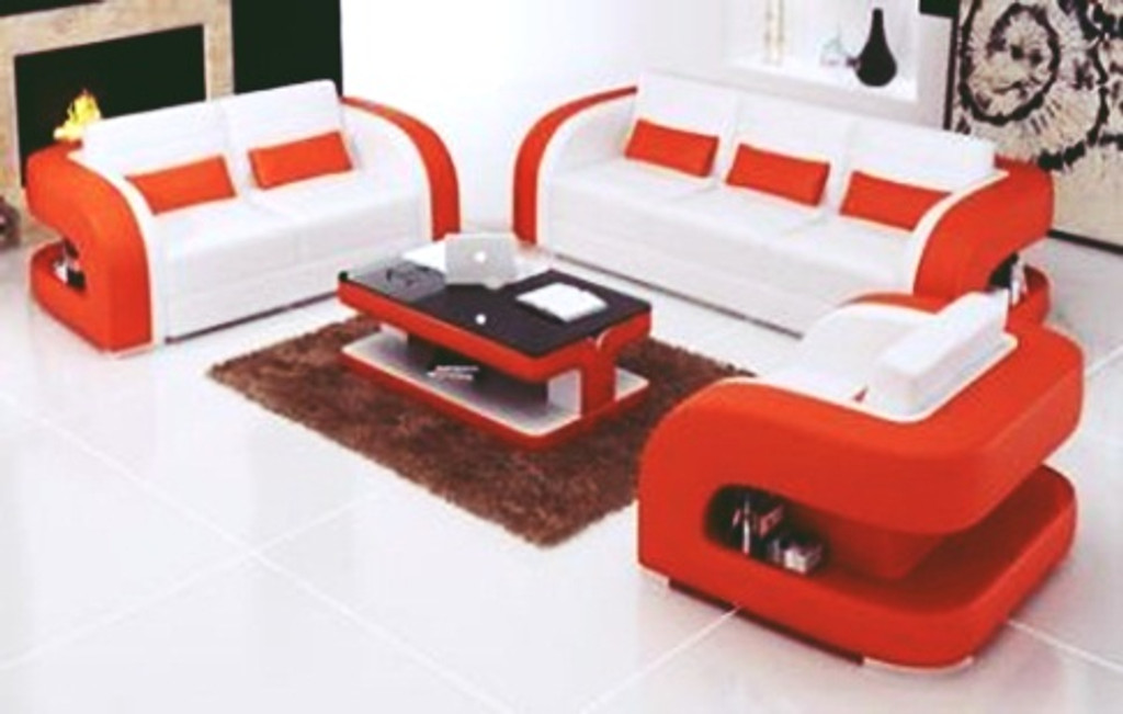 LARIMA (F3002C) 3 SEATER + 2 SEATER + 1 SEATER  LOUNGE WITH COFFEE TABLE - CHOICE OF LEATHER AND ASSORTED COLOURS AVAILABLE