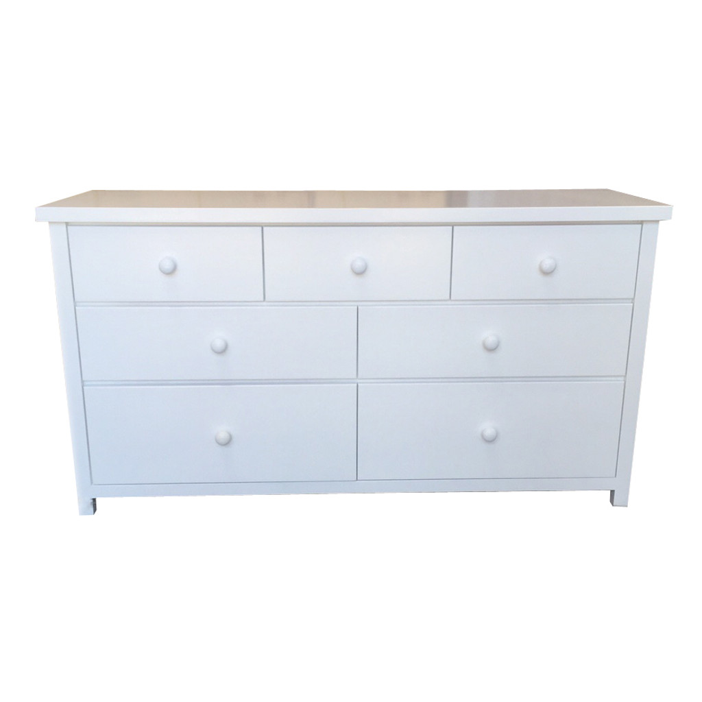 FEDERATION LOWBOY WITH 7 DRAWERS -1500(W) - WHITE
