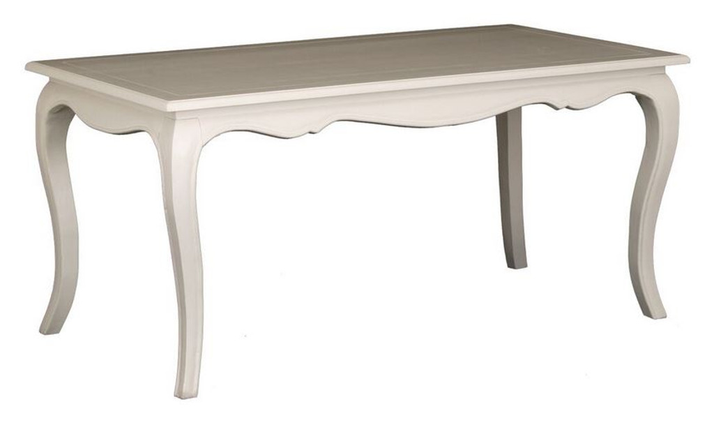 FRENCH PROVINCIAL DINING TABLE - (DT 160 85 FP )  - 1600(W) X 850(D) - WHITE