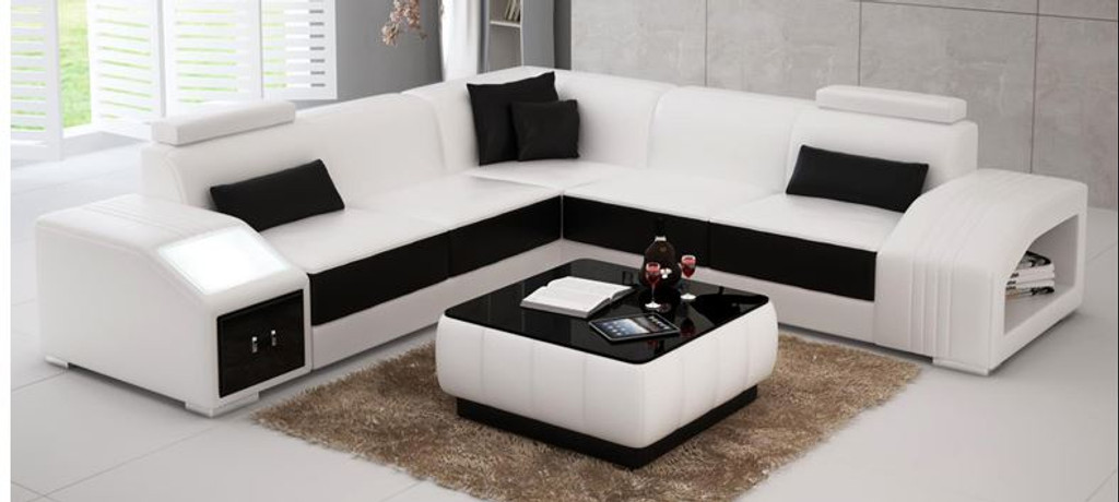 NARVIS  CORNER LOUNGE SUITE  WITH COFFEE TABLE  (MODEL - L6008B) - CHOICE OF LEATHER AND ASSORTED COLOURS AVAILABLE