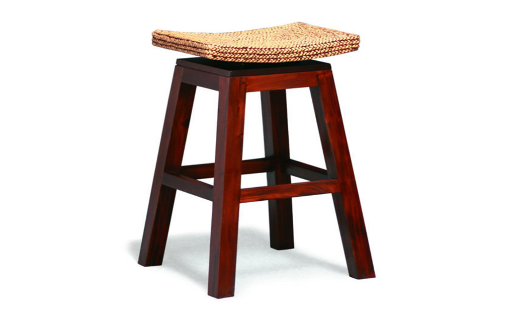 ORNAMENTAL  BAR STOOL  (BR 002 WV) - SEAT: 760(H) - MAHOGANY