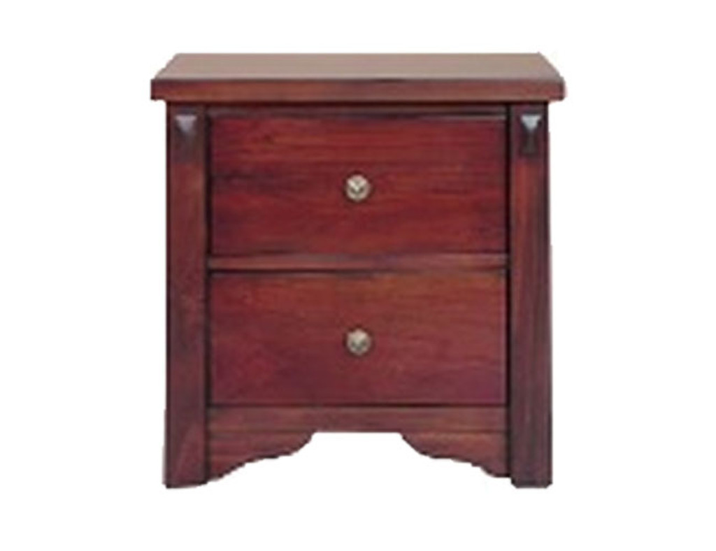 FABULOS  2 DRAWER BEDSIDE ( MODEL-16-9-14-14-1-3-12-5 )  - HAZELNUT