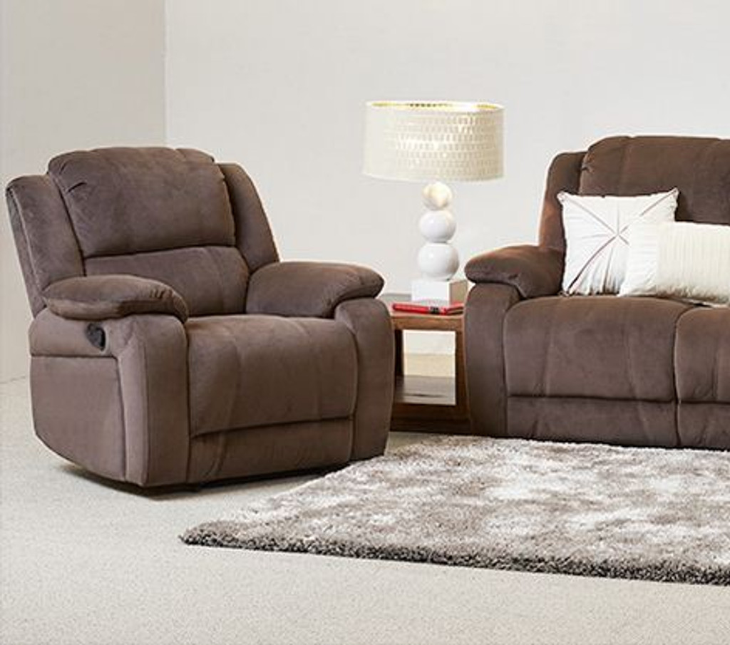 CLINTONE  SINGLE  FABRIC  RECLINER   - ASSORTED COLOURS