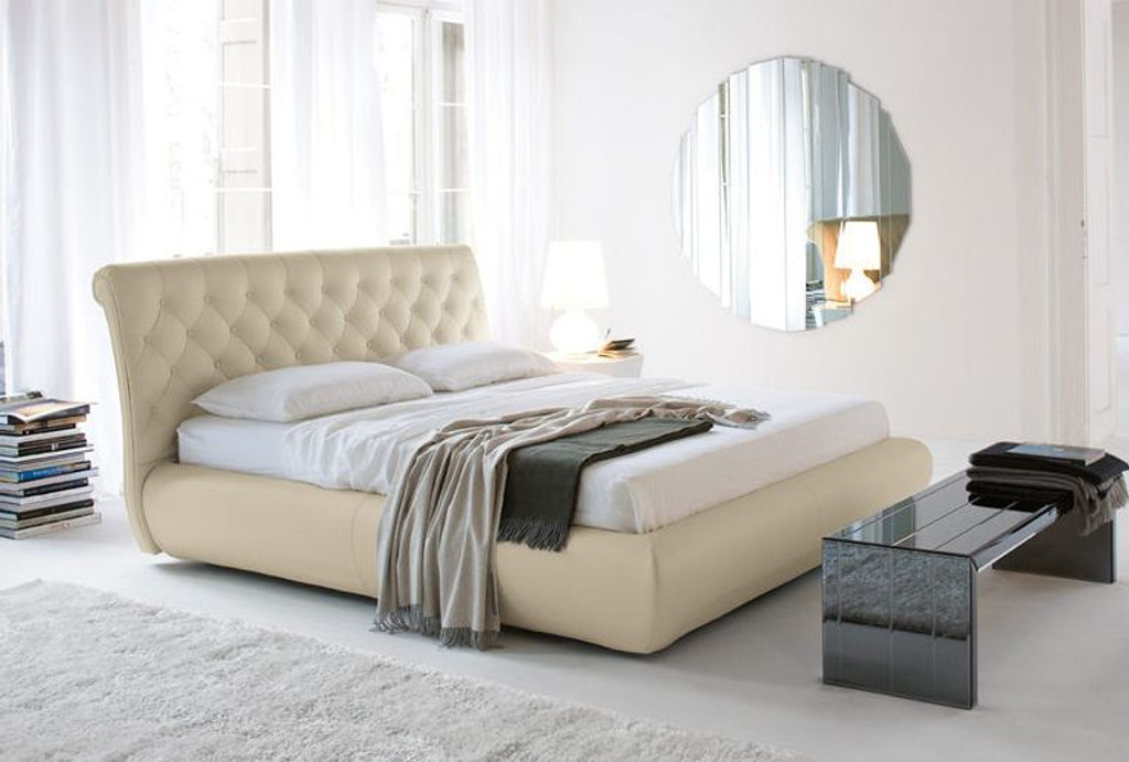 QUEEN  KERINTO  LEATHERETTE  BED (B023) - ASSORTED COLORS AVAILABLE