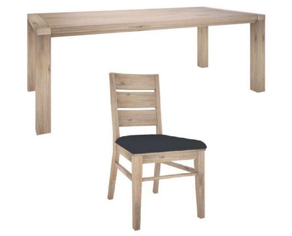 OYSTER BAY 9 PIECE DINING SETTING WITH 2100(W) x 1000(D) TABLE  - ASH