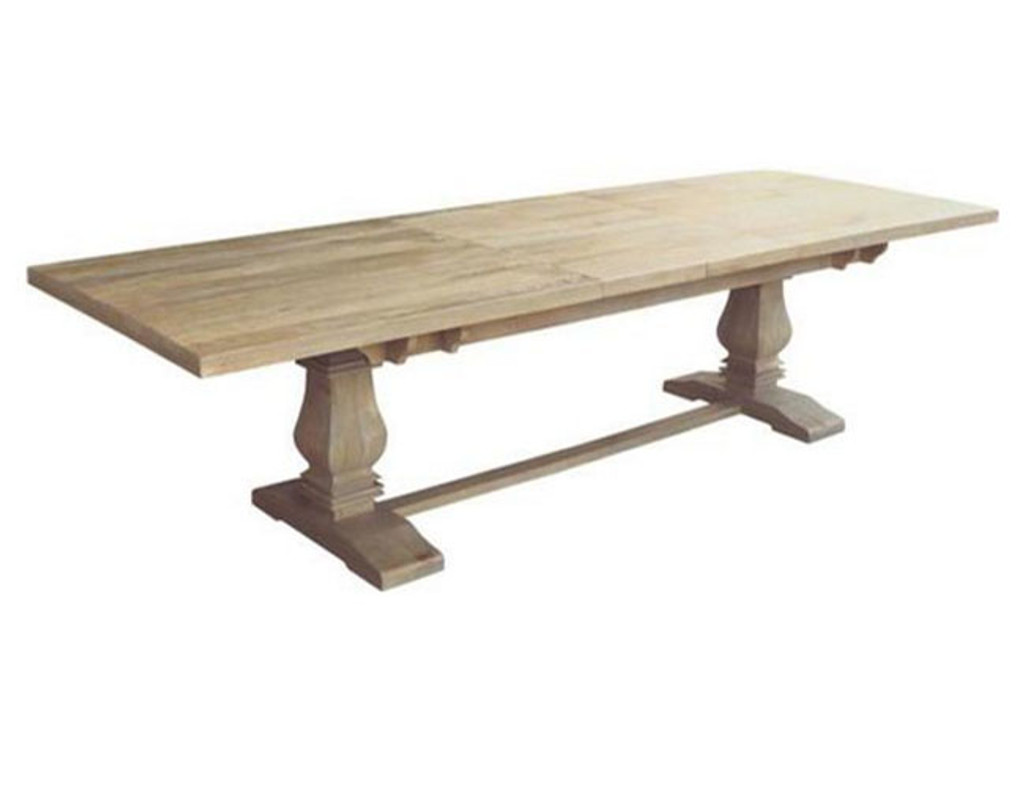 UTAH (WOUT-007) EXTENSION DINING TABLE  ONLY 2580 - Ext. 3480(W) X 1200(D)  - HONEY WASH