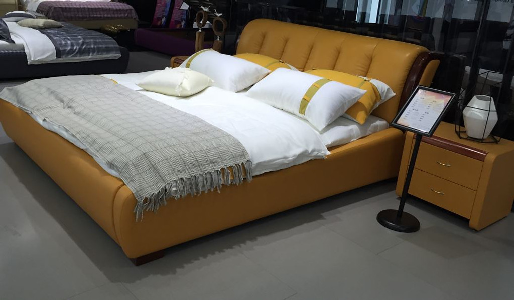 TIFFANY  KING   3 PIECE   LEATHERETTE BEDSIDE BEDROOM SUITE (89# BEDSIDES)  -  (MODEL - A9508) -  WITH GAS LIFT UNDERBED OPTION AVAILABLE - ASSORTED COLOURS