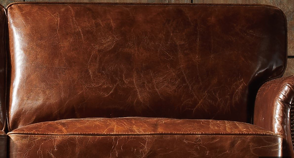 KINGFORD   3S + 2S +1S  VINTAGE FULL LEATHER LOUNGE SUITE - ASSORTED COLOURS