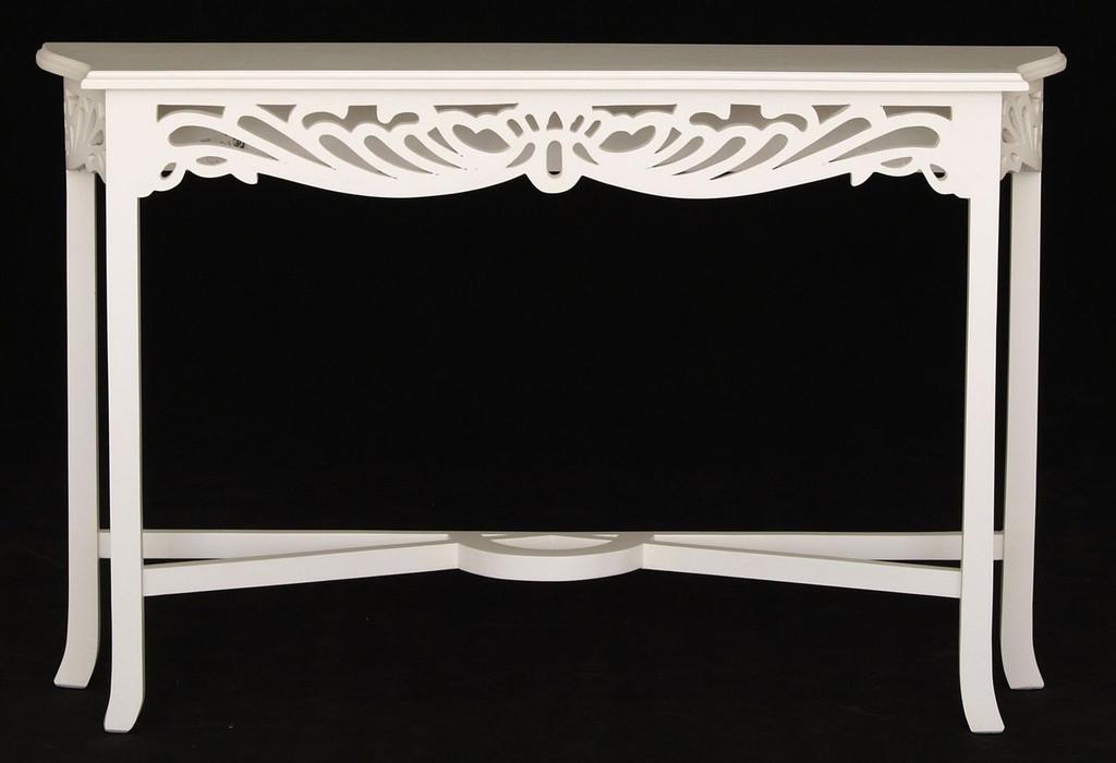 QUEEN ANN  1200(W) J SIDE TABLE (ST 000 CV 120 (W) - WHITE