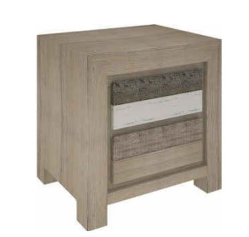 HIGHLAND QUEEN 4 PIECE TALLBOY  BEDROOM SUITE  WITH UNDERBED STORAGE DRAWERS (3-8-1-20-5-1-21) - BRUSHED & MULTI COLOR