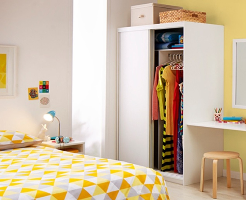 SERIES 300 PRE FABRICATED WARDROBE WITH MELAMINE DOORS 2250(H) x 2400(W) (NOT AS PICTURED) – ASSORTED COLOURS