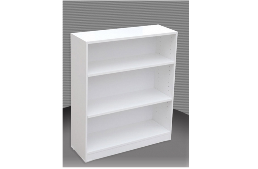 3FT HIGH BOOKCASE (3x18) - 860(H) x 450(W)  - ASSORTED COLOURS
