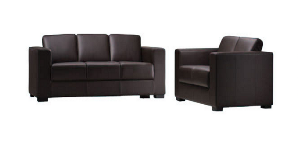MILANO / BRIGHTON (443) 3 SEATER + 2 SEATER - BY-CAST LEATHER - BLACK, WHITE OR BROWN