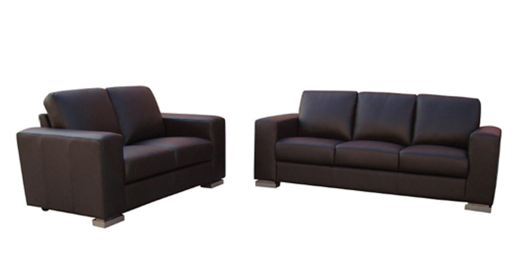 NOVA 3 SEATER + 2 SEATER FULL LEATHER LOUNGE (THICK LEATHER)