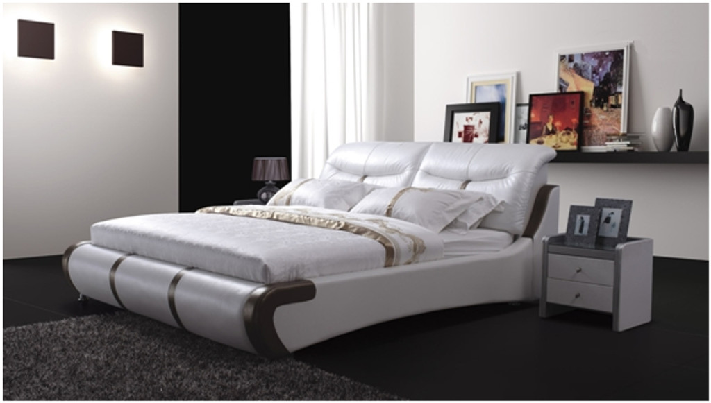 KING JULIAN-GRAY LEATHERETTE BED (A8187) - ASSORTED COLOURS